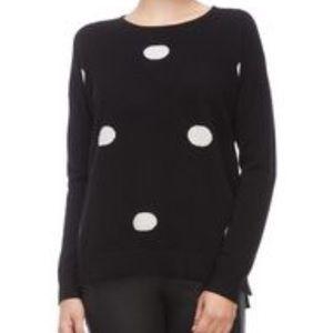 Cashmere Ply cashmere polka dot sweater NWT sz xl